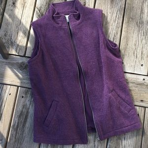Coldwater Creek purple vest